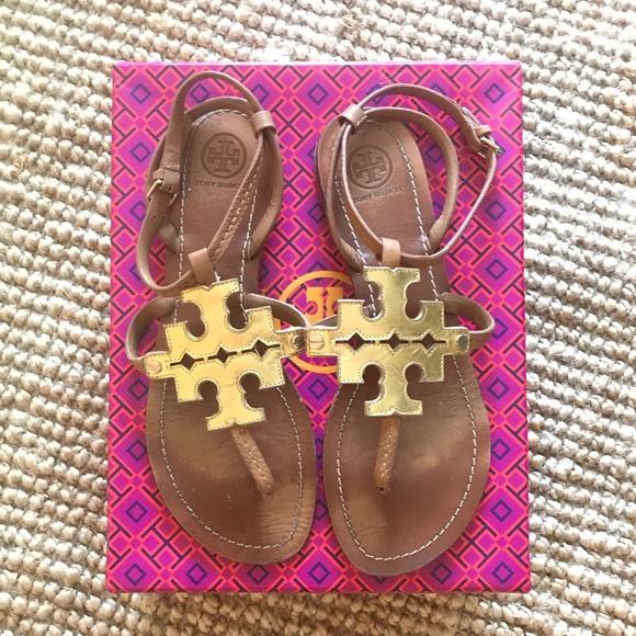 323947b535c057 Tory Burch Chandler Leather Flat Thong Sandal  9.5.  M 5b6b0285129955b06dedc266